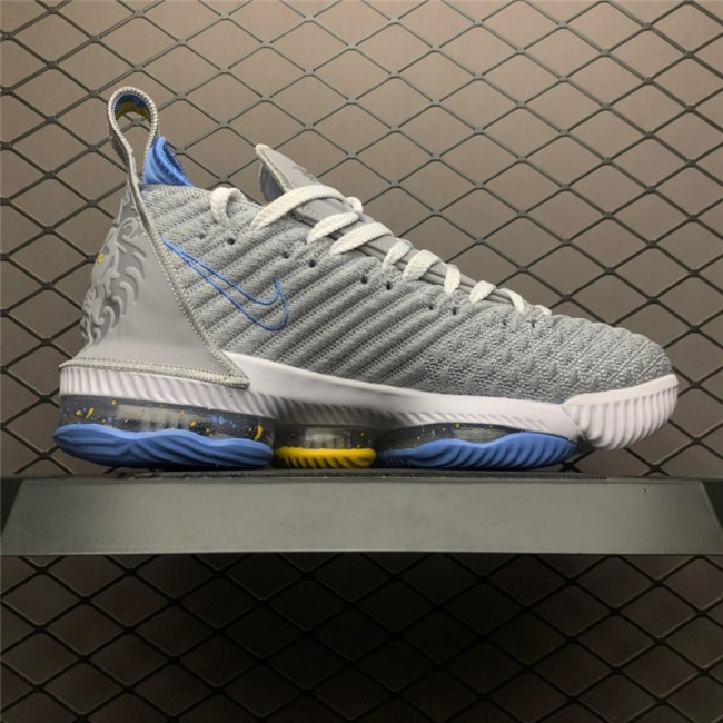 Mens Nike LeBron 16 MPLS Wolf Grey White-University Blue