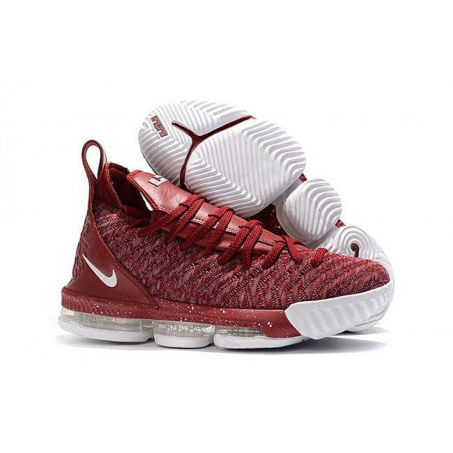 Mens Nike LeBron 16 Wine Red Wine White