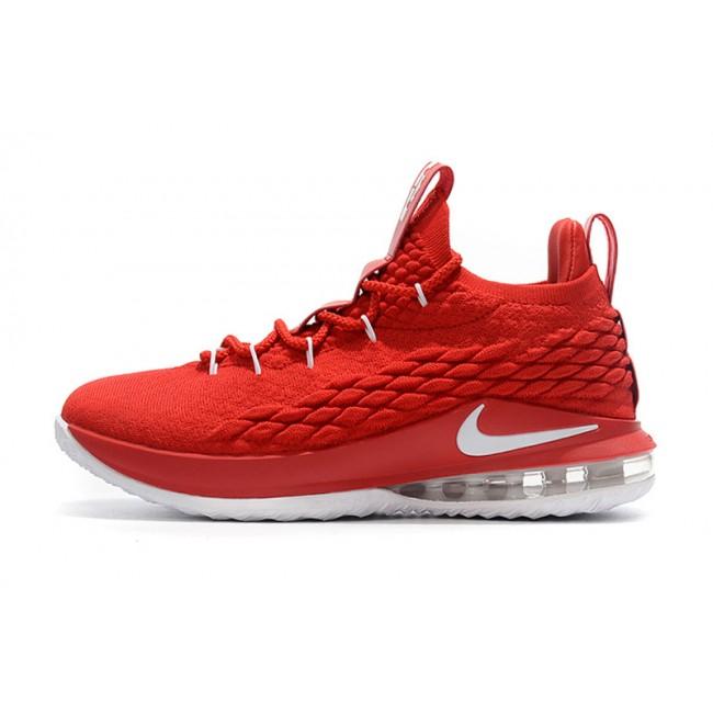 Mens Nike LeBron 15 Low University Red White