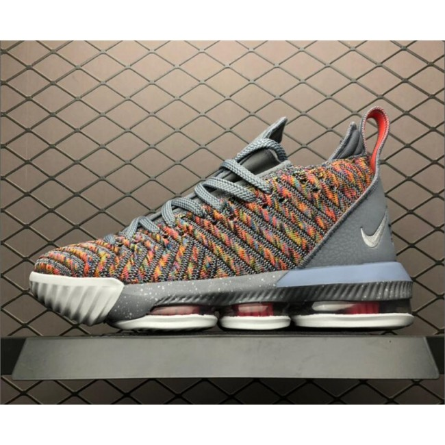 Mens Nike LeBron 16 EP 20 20 Multicolor Metallic Silver-Cool Grey