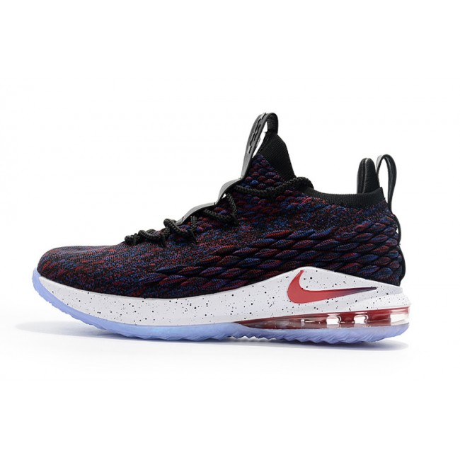 Mens Nike LeBron 15 Low Supernova Multicolor University Red-Black-White