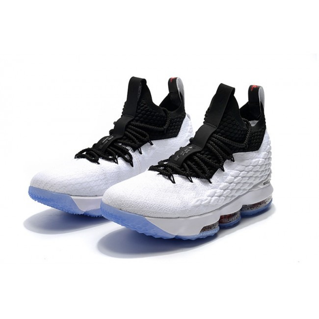 Mens Nike LeBron 15 Graffiti White Black-University Red Release