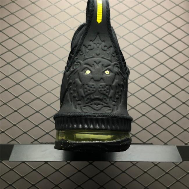 Mens Nike LeBron 16 Black Green AO2595-700