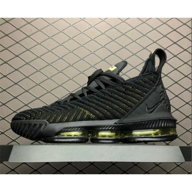Mens Nike LeBron 16 Black Green AO2595-700