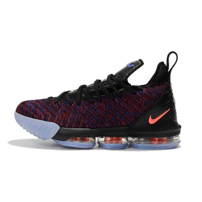 Mens Nike LeBron 16 Black Multicolor-Orange