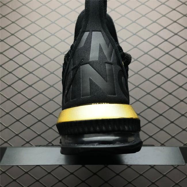 Mens Nike LeBron 16 Im King Black Gold To BQ5970-007