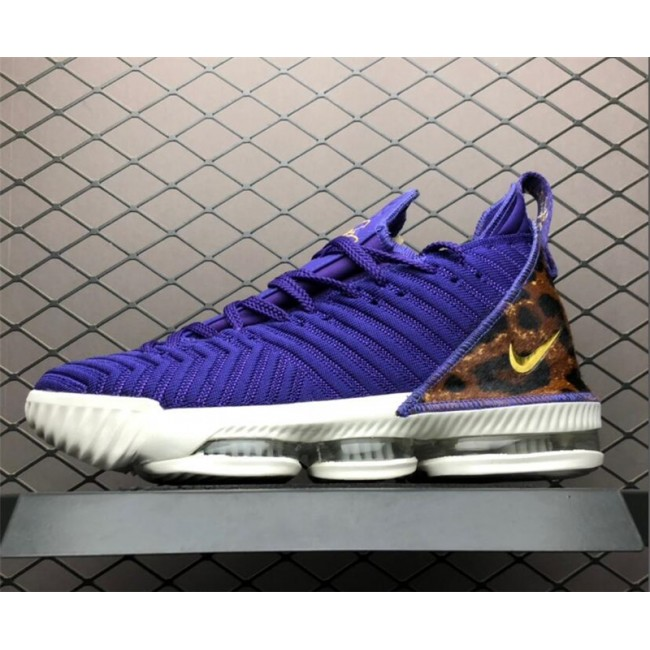 Mens Nike LeBron 16 King Court Purple Shoes