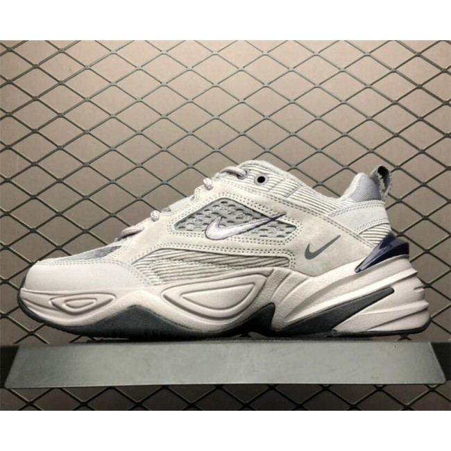 Mens Nike M2K Tekno Atmosphere Grey Dark Grey-Gunsmoke