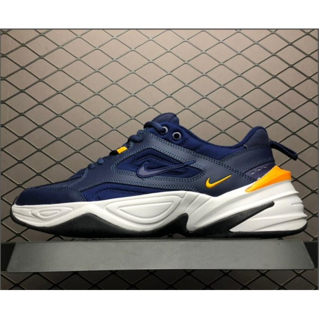 Mens Nike M2K Tekno Midnight Navy Laser Orange