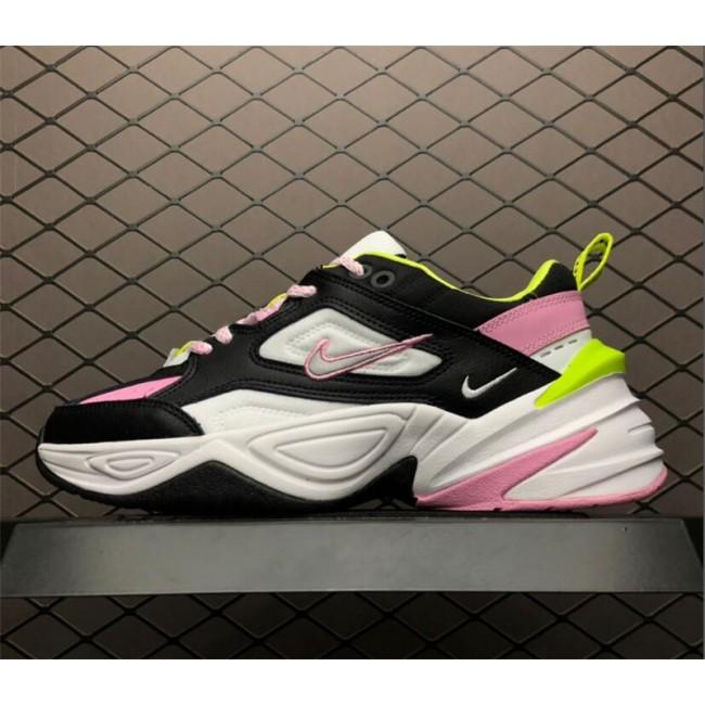 Womens Nike M2K Tekno GS Pink Rise Black Metallic Silver