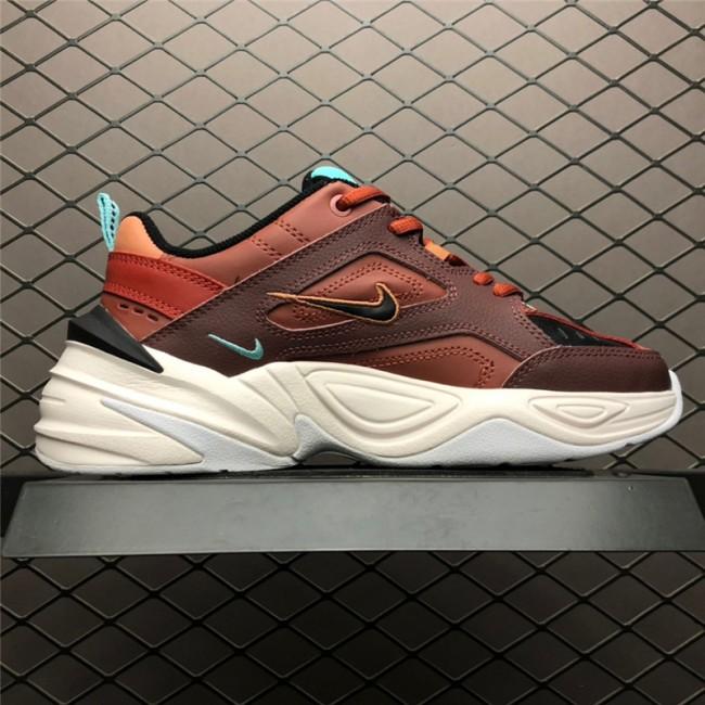 Womens Nike M2K Tekno Mahogany Mink Blk Burnt Orange