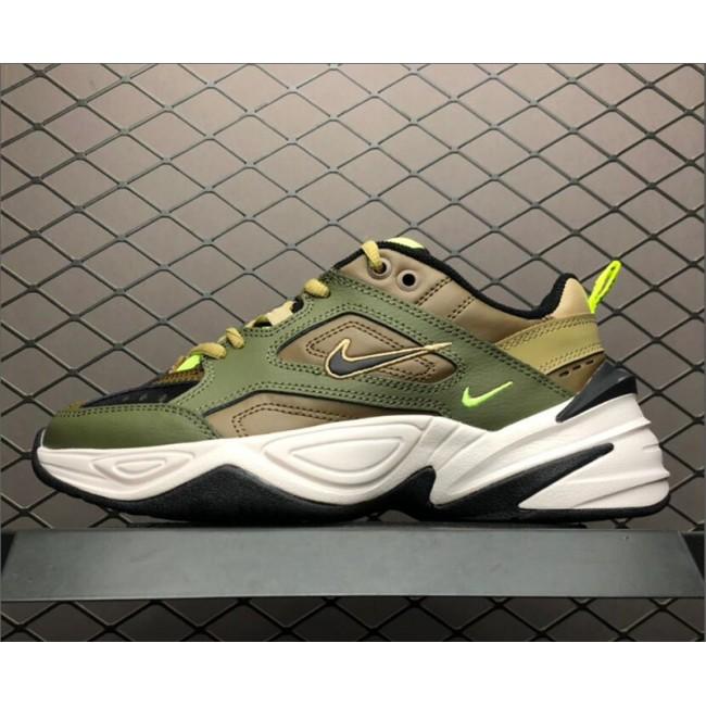 Mens/Womens Nike M2K Tekno Medium Olive Black-Yukon Brown