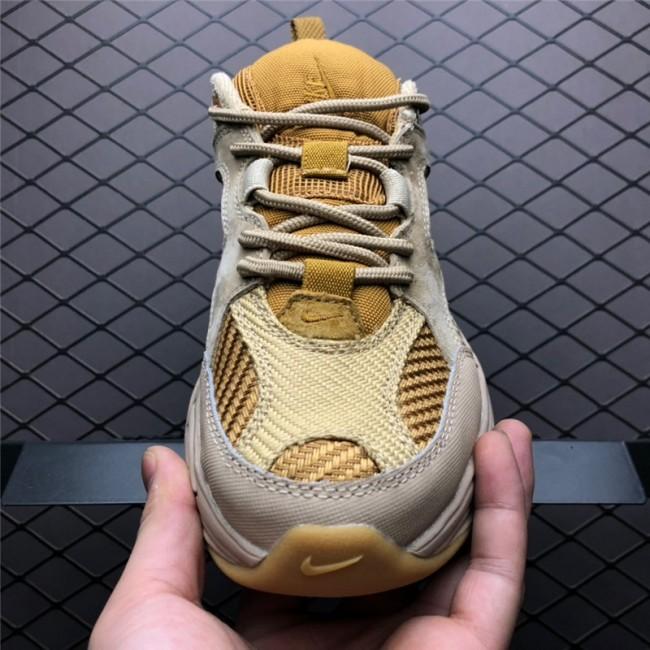 Mens/Womens Nike M2K Tekno Shoes Linen Ale Brown-Wheat