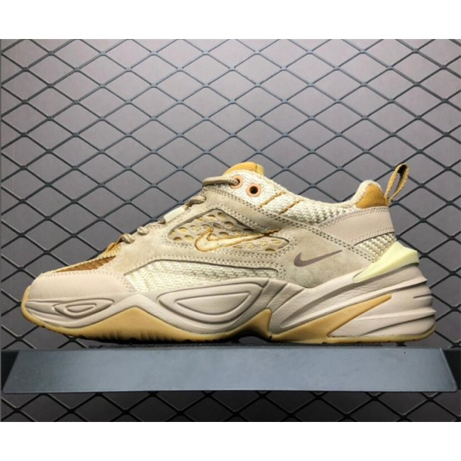 Mens/Womens Nike M2K Tekno Shoes Linen Ale Brown-Wheat