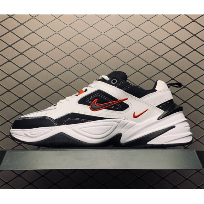 Mens Nike M2K Tekno White Black and Red Dad Shoes