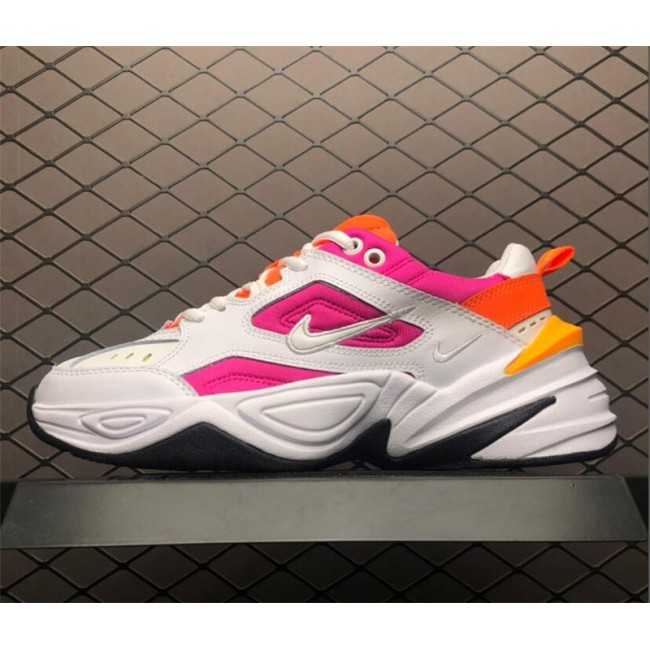 Womens Nike M2K Tekno White Laser Fuchsia Chunky Daddy Shoes