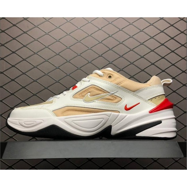 Mens/Womens Nike M2K Tekno White Yellow Red-Black Shoes