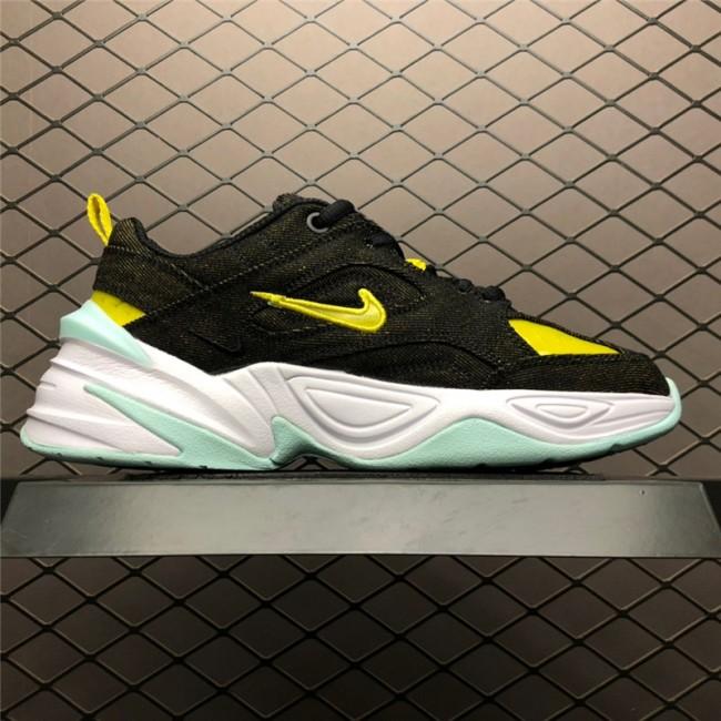 Womens Nike M2K Tekno Denim Black Bright Critron Teal