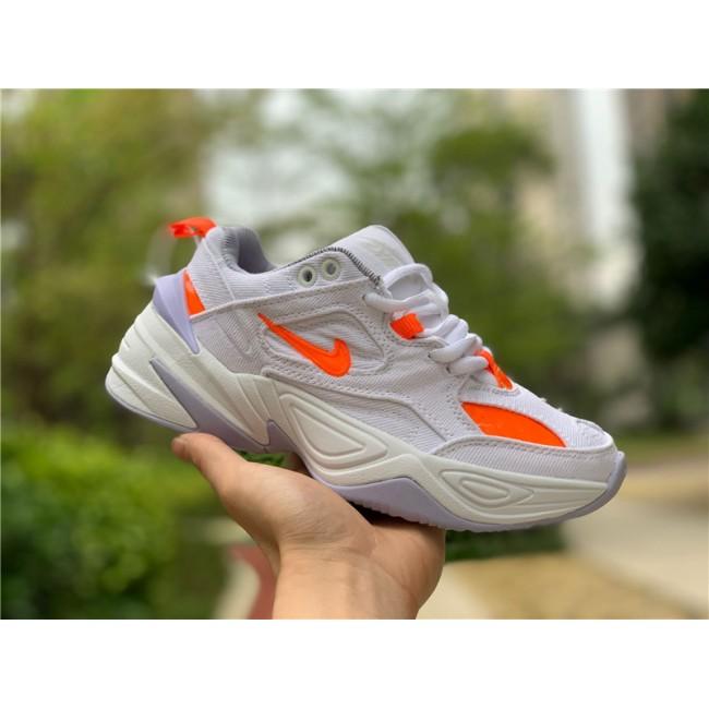 Womens Nike M2K Tekno LX Denim White Hyper Crimson