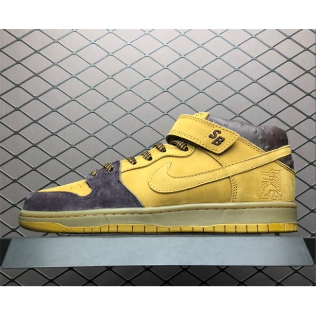 Mens Nike SB Dunk Mid Lewis Marnell Cappuccino Wheat-Bronze