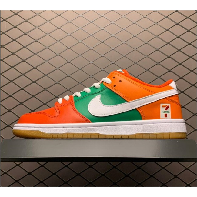 Mens/Womens 7-Eleven x Nike SB Dunk Low Red Orange Green White