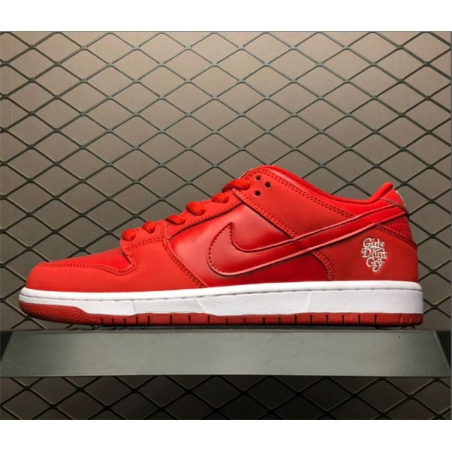 Mens/Womens Girls Dont Cry x Nike SB Dunk Low University Red White