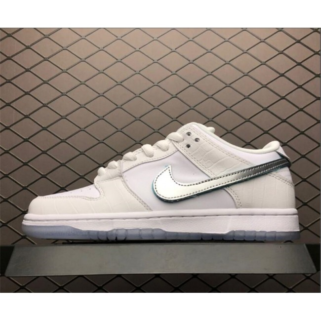 Mens/Womens Diamond Supply Co. x Nike SB Dunk Low White