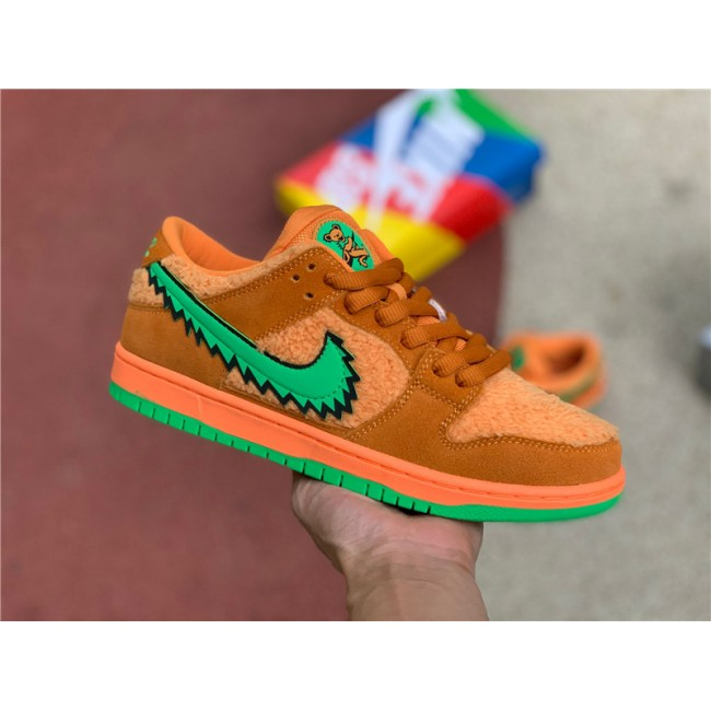 Mens/Womens Grateful Dead x Nike SB Dunk Low Orange Bear Shoes