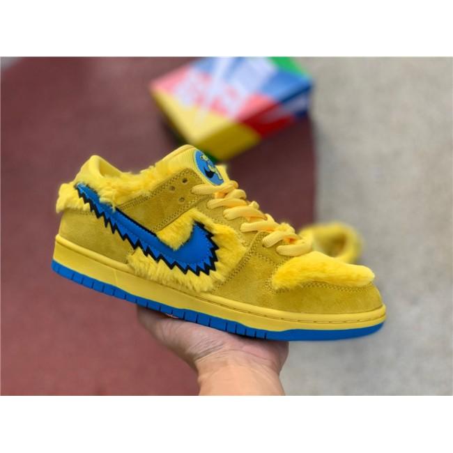 Mens/Womens Grateful Dead x Nike SB Dunk Low Yellow Blue Fury