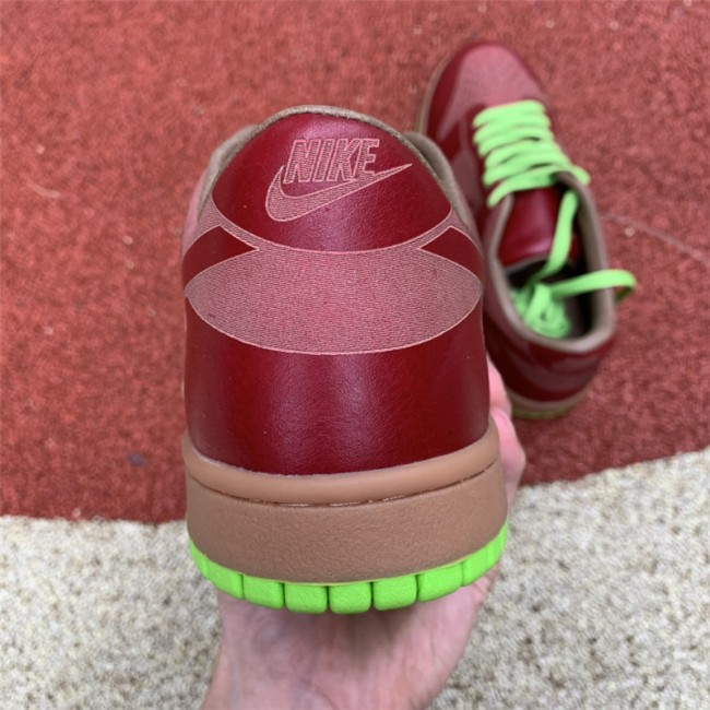 Mens Nike Dunk Low 1-Piece Laser Varsity Red Chartreuse