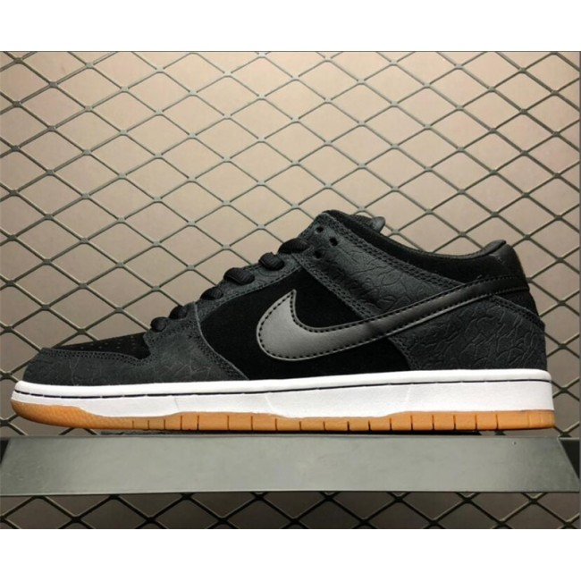 Mens/Womens Nike Dunk SB Low Nontourage Black White-Gum Medium Brown