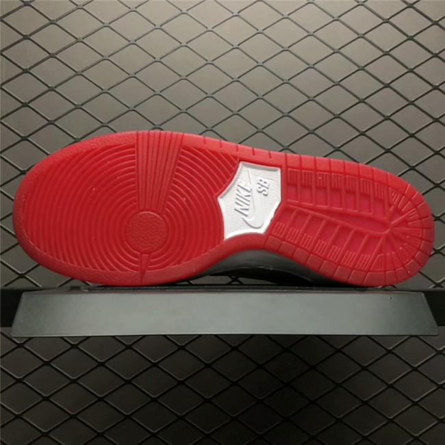Mens Nike SB Dunk High Kevin Bradley University Red-White