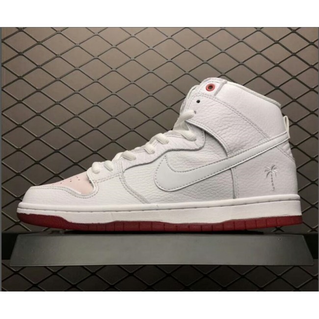 Mens Nike SB Dunk High Kevin Bradley University Red-White