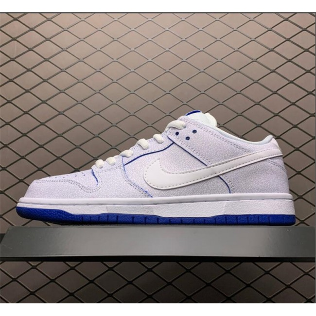 Mens/Womens Nike SB Dunk Low Premium White Game Royal
