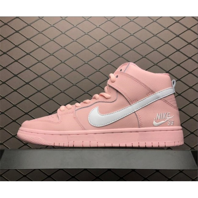 Womens Nike SB Zoom Dunk High PRO Pink White Free Shipping