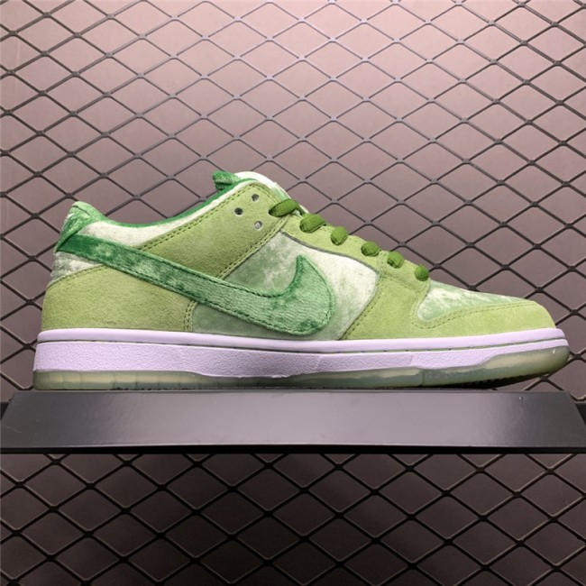 Mens/Womens StrangeLove Skateboards x Nike SB Dunk Low Velvet Melon Green