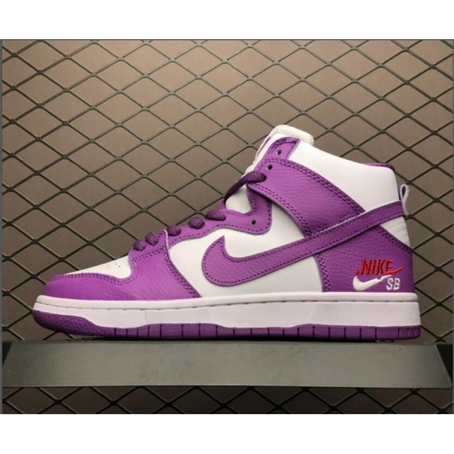 Womens Nike SB Zoom Dunk High PRO Purple White