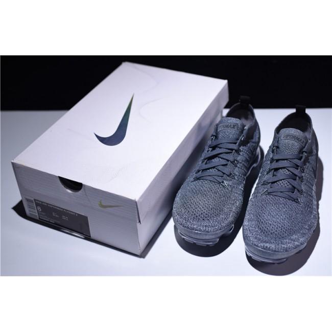 Mens/Womens Nike Air VaporMax Flyknit 2 Dark Grey Wolf Grey Black