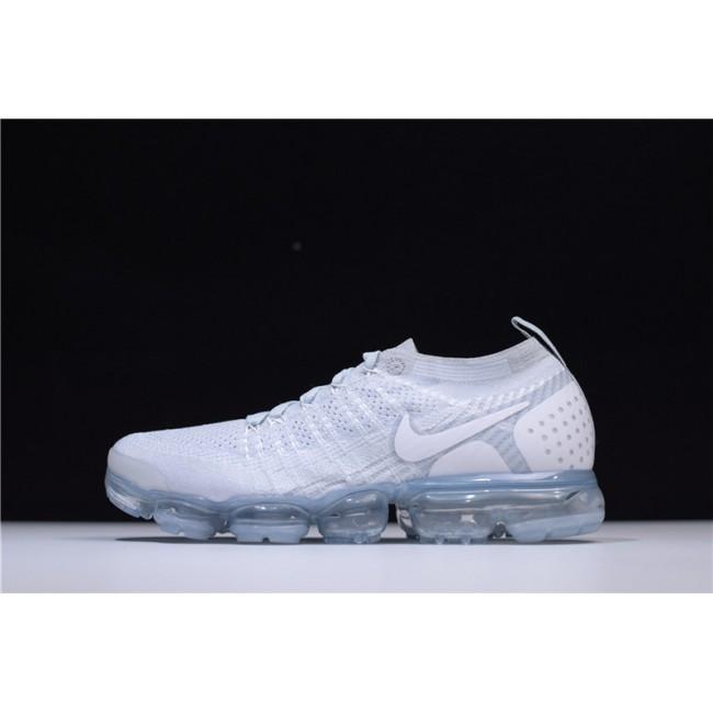 Mens Nike Air VaporMax Flyknit 2.0 White Grey Sneakers