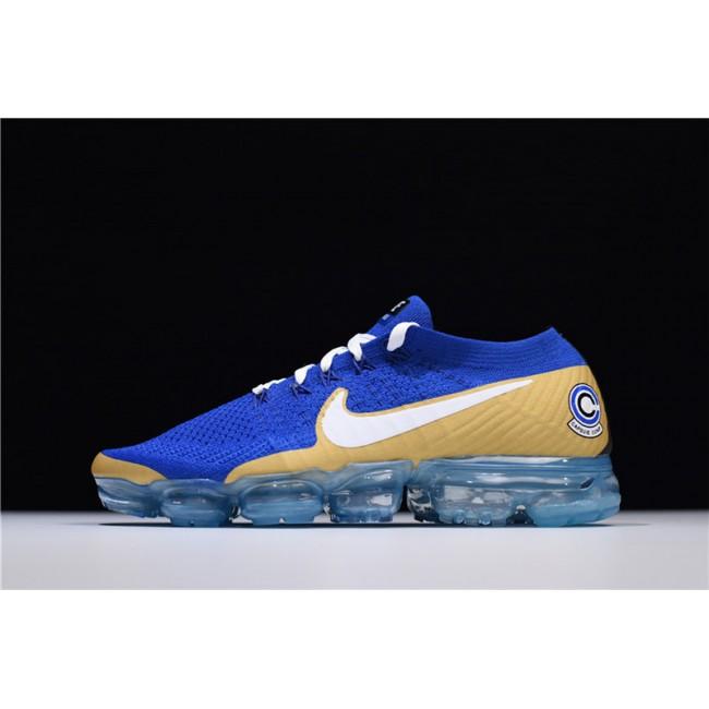 Mens NikeLab Air VaporMax Flyknit Sapphire Blue White-Gold
