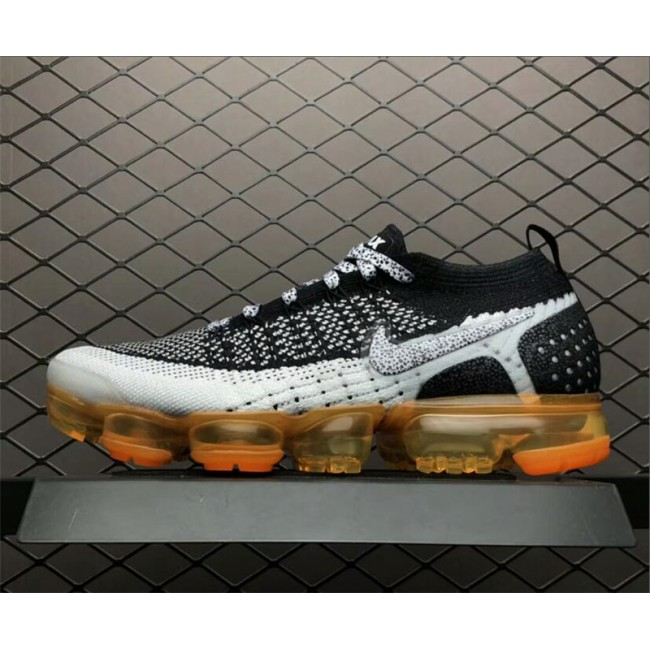 Mens Nike Air VaporMax 2.0 Mango Pure Platinum Black-Dark Grey