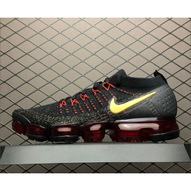 Mens Nike Air VaporMax 2.0 CNY Black Metallic Gold-University Red
