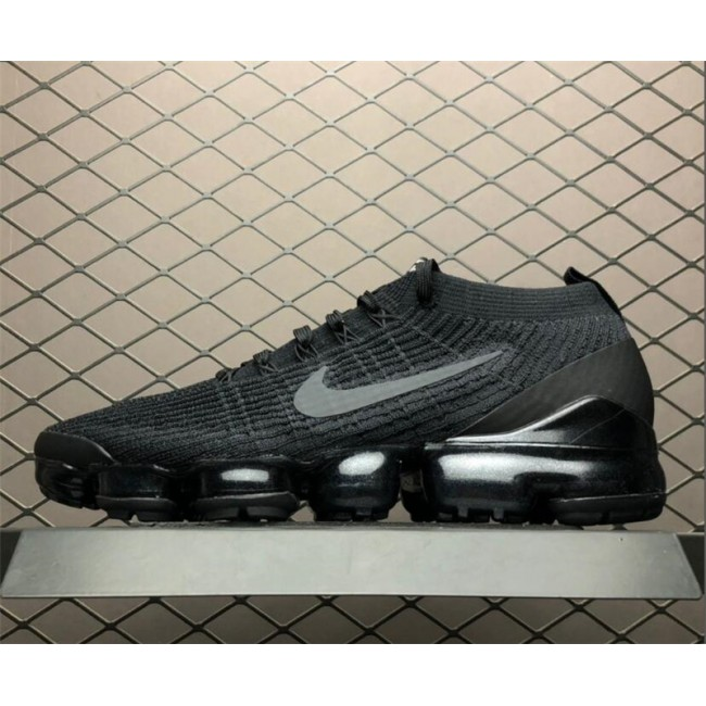 Mens Nike Air VaporMax Flyknit 3.0 Black Grey