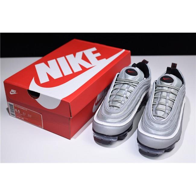 Mens/Womens Nike Air VaporMax 97 Silver Bullet Metallic Silver Varsity Red