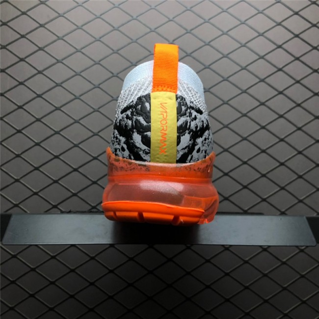 Mens Nike Air VaporMax Flyknit 3.0 Grey Orange