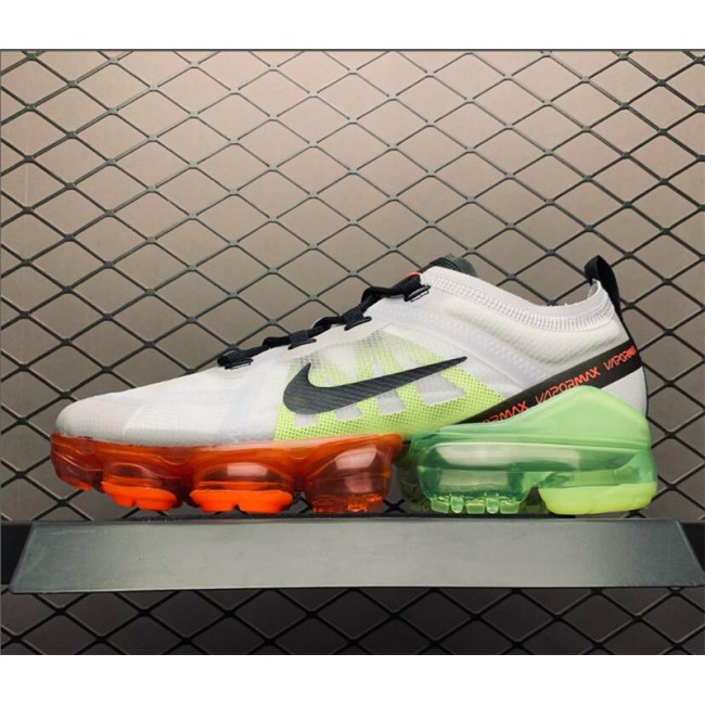 Mens/Womens Nike Air VaporMax Pure Platinum Black-Volt-Bright Crimson