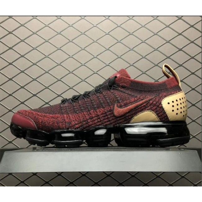 Mens/Womens Nike Air VaporMax Flyknit 2.0 NRG Team Red-Black-Vachetta Tan