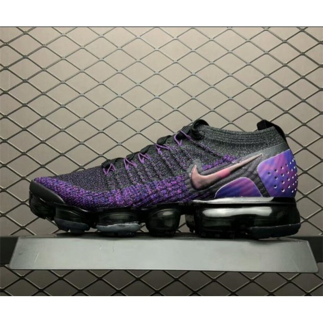 Mens/Womens Nike Air VaporMax Flyknit 2.0 Black Night Purple