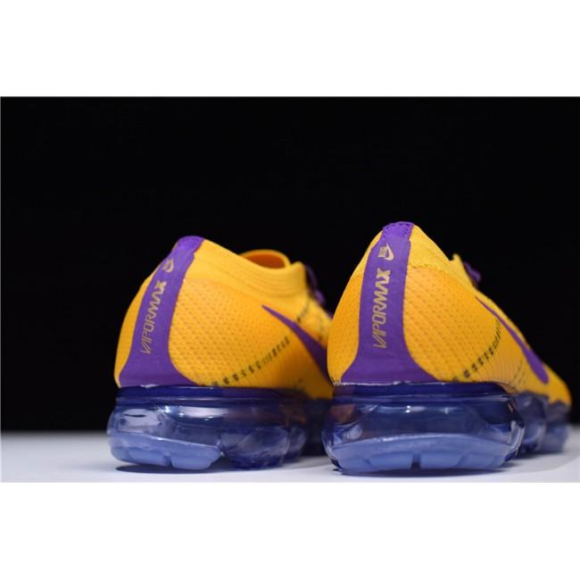 Mens/Womens Nike Air VaporMax Flyknit Lemon Yellow Purple