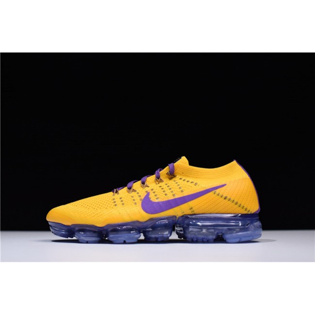 Mens/Womens Nike Air VaporMax Flyknit Lemon Yellow Purple